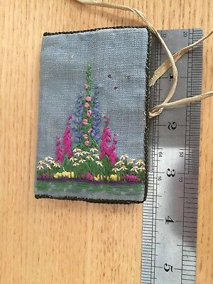 Pocket Size Hand Made Sewing Needle Case With Embroidered Detail