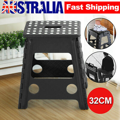 Folding Indoor Flat Outdoor Camping Chair Step Stool Foldable Portable Store