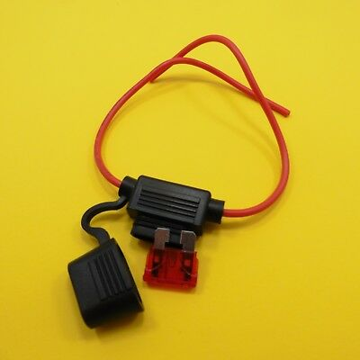 Standard Blade Fuse with Inline Waterproof Fuse Holder Cover 12V Boat Car Bike