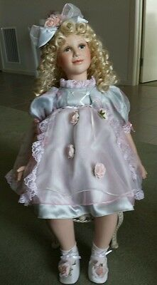 Porcelain Doll.  Ashley: as lovely as can be. Paradise galleries. +  Doll chair
