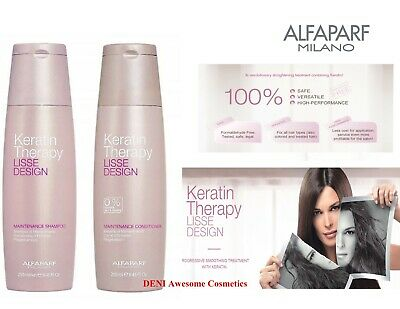 Alfaparf Lisse Design Keratin Therapy Shampoo (250ml) & Conditioner (250ml)