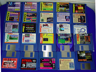 "25 X 3.5"" Floppy Demo Disk From Amiga Magazine Format, Cu, Action, Power ++ (4)"
