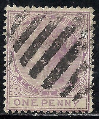 LAGOS SCOTT 14 USED FINE - 1882 1p LILAC  QUEEN VICTORIA ISSUE  CAT $19