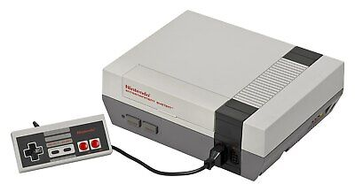 Nes / Nintendo Entertainment System Console + Original Controller,Power Supply &