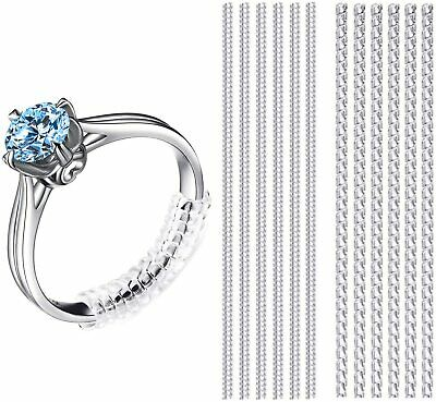 12 Piece Invisible Ring Sizer Jewelry Size Reducer Clear Guard Adjuster Resizer