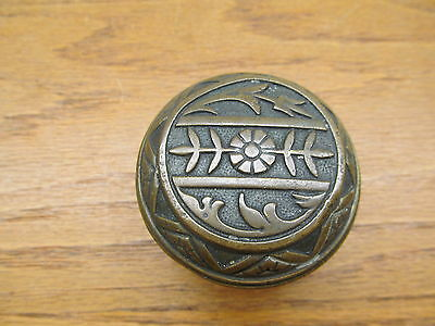 "Old Eastlake ??brass ? Bronze ? Door Knob "" As Found "" Ornate"