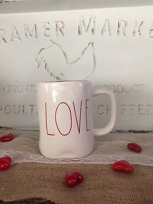 New Rae Dunn By Magenta Valentines Day LOVE Mug With Red Interior