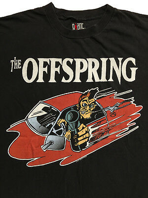 The Offspring Mens T Shirt 1994 Vintage Drive by Gun Tour Concert Adult L Rare