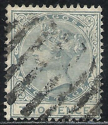 LAGOS SCOTT 17 USED FINE - 1882 2p GRAY QUEEN VICTORIA ISSUE