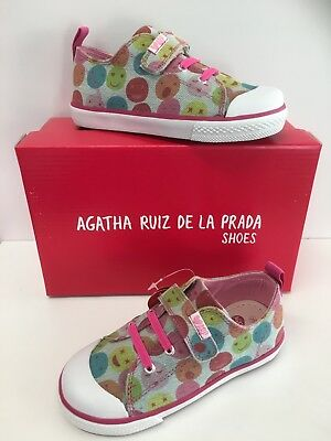 Agatha Ruiz De La Prada Canvas Sneakers with Faces in Pink ( Now Only £15.90)