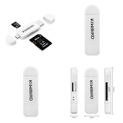 Memory Card Reader Micro Sd To Usb 2.0 White Adapter For Smart Phones Tv Pc Andr
