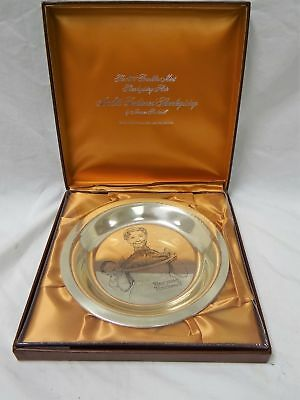 STERLING SILVER 1977 FRANKLIN MINT NORMAN ROCKWELL THANKSGIVING PLATE Sealed!