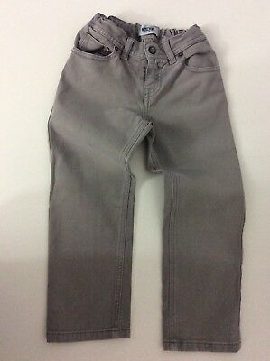 Moschino Boys Grey Jeans, Size Age 4, Vgc
