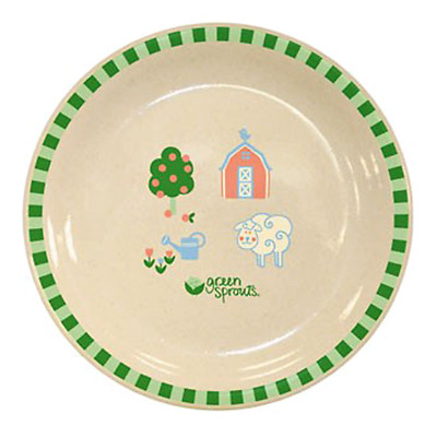 NEW BPA Free I Play Green Sprouts Plant Fiber Plate