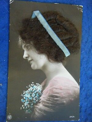 "Glamour Girl With ""real Hair"" - Scarce Novelty Postcard!"