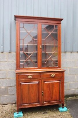 A Victorian Walnut Two door Bookcase