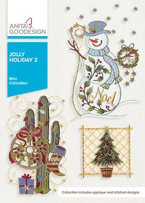 Anita Goodesign Jolly Holiday 2 Embroidery Machine Design Cd