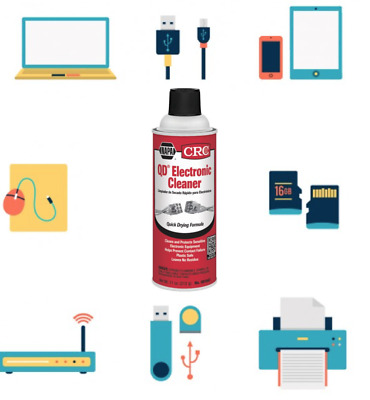 CRC QD ELECTRONIC CLEANER SPRAY QUICK DRYING FORMULA -11 Wt Oz. New
