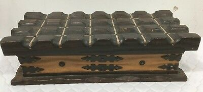 Large Vintage Beautiful Wooden Box Made in Spain Trinket Jewelry