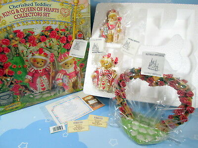 Cherished Teddies Valentines King And Queen Of Hearts Set Love Romance New + Box