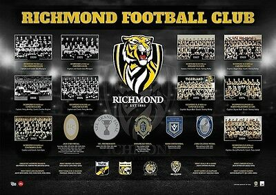Richmond Football Club The Historical Series Print Limited Edition Of 1000 COA