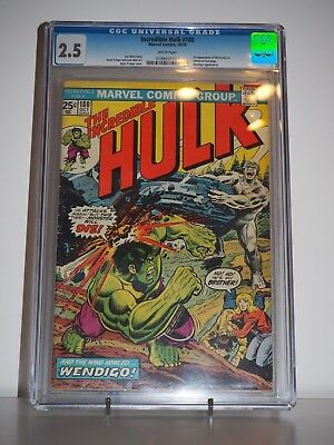 Marvel - The Incredible Hulk #180 CGC [2.5] Very First Appearance of Wolverine!!