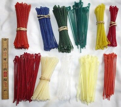 "NOS 4"" Serv-A-Lite Lot 250 Piece Beaded Cable Ties BCT-425 - Each is 4¼"" long"