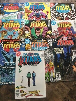 Lot Of 10 New Teen Titans 20 22 27 28 29 30 31 36 38 39 Nice! 1983-1984