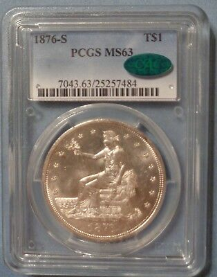 1876-S Trade Dollar MS63 CAC PCGS