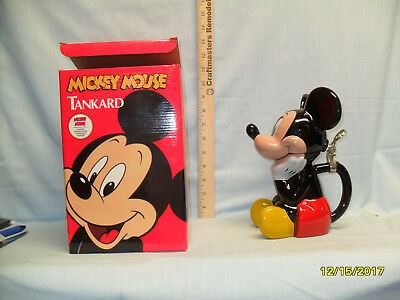 Disney 1993 Mickey Mouse Lidded Stein DNY5