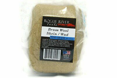Rogue River Tools Brass Wool Wad Skein (Fine) - Made in the USA!