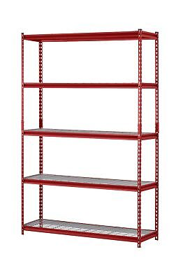 "Muscle Rack UR184872-R 5-Shelf Steel Shelving Unit, 48"" Width x 72""... 2DAY SHIP"