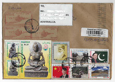 2016 Pakistan to Australia Registered cover