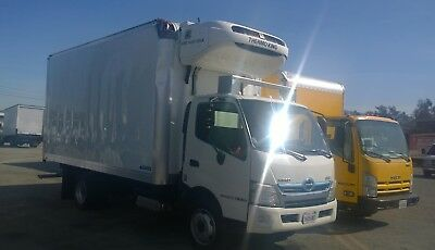 Hino 195 HYBRID 16ft Refrigerated FREEZER Truck nrr nqr npr ud gmc reefer FUSO