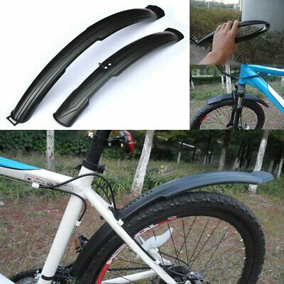Black Fender Mudguards Set Bicycle MTB Front Rear Mud Guards Bike Cycling