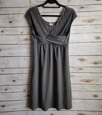 A Pea in the Pod Women's Maternity Sleepware Gown Gray Size Medium