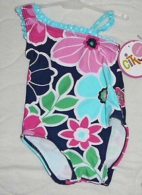 NWT Circo UPF 50+ Size 6 mo Pink Swim Bathing Suit With Flowers
