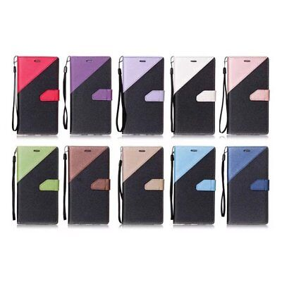 Double Color Magnetic Wallet Leather Flip Case Cover For Huawei P8 P9 Lite EU