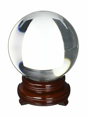 Amlong CrystalClear Crystal Ball 150mm (6 in.) Including Wooden Sta... 2DAY SHIP