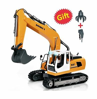 Double E 17 Channel RC Excavator Three in one Metal Shovel Remote C... 2DAY SHIP