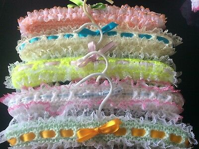 Baby Hand Knitted Coat Hangars