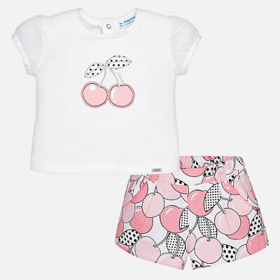Mayoral Infant Girls Shorts and T-Shirts Set In Rosa (01262) aged 12-36 months