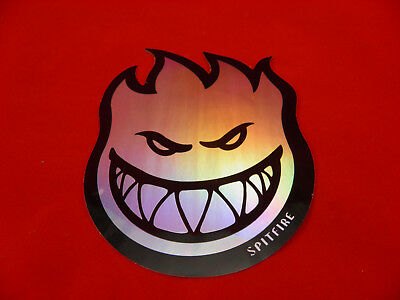 "Spitfire Fireball  6"" Sticker - Chrome Foil"