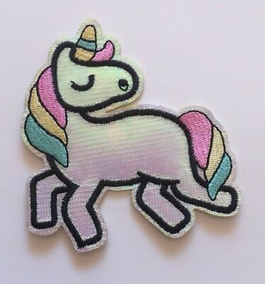 Unicorn Iron On / Sew on Embroidered Patch / Applique / Badge