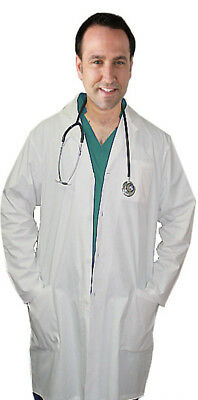 Poplin Labcoat Unisex Full Sleeve With Plastic Buttons 3 Pocket Solid