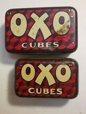 2 Old Small OXO Beef Cube Tins. G