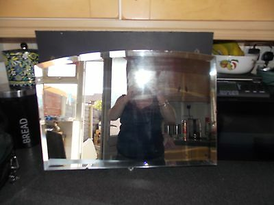 Vintage mirror Frameless bevel edge mirror 62x42cm all original