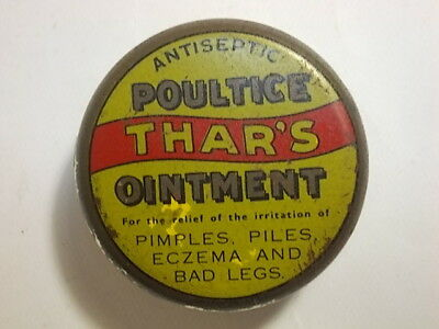 Old Chemist Thars Poultice Ointment Tin. G/VG