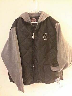RARE New Vintage Jesse James West Coast Choppers Quilted Jacket Hoodie With Tags