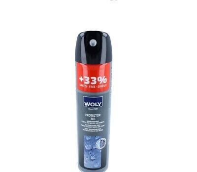 WOLY Suede/Leather 3x3 Protector Waterproof Spray 300 ML For Clothing & ShoeCare